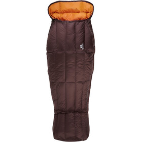 Mountain Equipment Spellbinder Sacos de dormir Mujer, dark chocolate/blaze